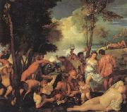 Titian Bacchanal oil painting reproduction