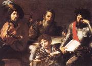 VALENTIN DE BOULOGNE The Four Ages of Man oil painting picture wholesale
