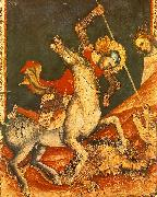 VITALE DA BOLOGNA St George 's Battle with the Dragon oil painting artist