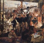 William Bell Scott Iron and Coal oil painting picture wholesale