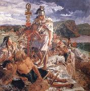 William Bell Scott The Romans Cause a Wall to be Built for the Protection of the South oil painting picture wholesale