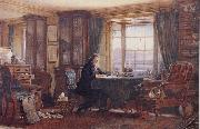 John Ruskin in his Study at Brantwood Cumbria