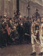 William Logsdail The Ninth of November 1888-ir James Whitehead s Procession oil painting picture wholesale
