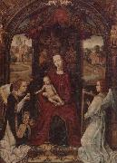 unknow artist The madonna and child enthroned,attended by angels playing musical instruments oil painting picture wholesale