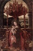 unknow artist The virgin and child enthroned oil painting picture wholesale