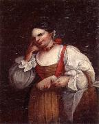 A Woman holding a mask