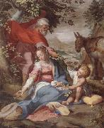 unknow artist The rest on the flight into egypt oil painting reproduction