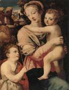 unknow artist The Madonna and child with the infant saint john the baptist oil painting picture wholesale