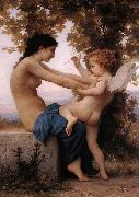 Adolphe William Bouguereau Girl Defending Herself Against Love