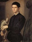 Agnolo Bronzino Portrait d'un sculpteur on d'un jeune amateur oil painting reproduction