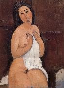 Amedeo Modigliani Nu assis a la chemise oil painting reproduction