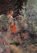 Anders Zorn Shepherdess oil painting reproduction