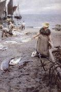 Anders Zorn Fiskmarknad i St Ives oil painting reproduction