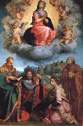 Andrea del Sarto Virgin with Four Saints oil painting reproduction