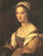 Andrea del Sarto Portrait of the Artist's Wife oil painting reproduction