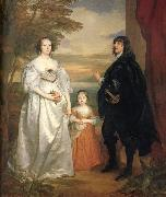 James,seventh earl of derby,his lady and child