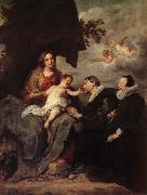 Anthony Van Dyck La Vierge aux donateurs oil painting reproduction