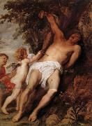 Anthony Van Dyck Saint Sebastien secouru par les anges oil painting reproduction
