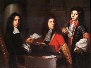 Anton Domenico Gabbiani Portrait of Musicians at the Medici Court oil painting reproduction