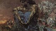 Arnold Bocklin The Seated Demon oil painting reproduction