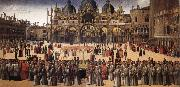 BELLINI, Gentile Procession in Piazza San Marco oil painting reproduction