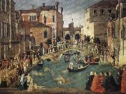 BELLINI, Gentile Miracle of the True Cross oil painting reproduction