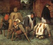 BRUEGEL, Pieter the Elder The Beggars oil painting reproduction