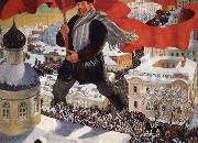 Boris Kustodiev Bolshevik oil painting reproduction
