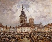 Braquaval Louis Place de Bethune,un jour de marche oil painting reproduction