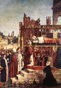 CARPACCIO, Vittore Martyrdom of the Pilgrims and the Funeral of St Ursula (detail) oil painting reproduction