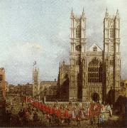 Wastminster Abbey with the Procession of the Knights of the Order of Bath