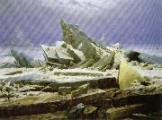 Caspar David Friedrich Shipwreck or Sea of Ice oil painting reproduction