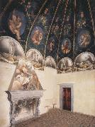 Correggio View of the Camera di San Paolo and of the vault oil painting reproduction