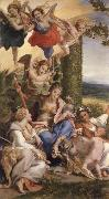 Correggio Allegorie des vertus on La vertu heroique victorieuse des vices oil painting reproduction