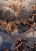 Correggio Assumption of the Virgin,details with Eve,angels,and putti oil painting reproduction