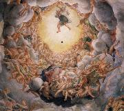 Correggio Assumption of the Virgin,detail of the cupola oil painting reproduction