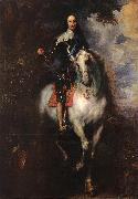 DYCK, Sir Anthony Van Equestrian Portrait of Charles I, King of England