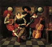 Dirck Hals The Merry Company oil painting reproduction