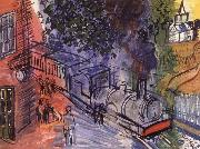 Dufy Raoul Train en gare oil painting