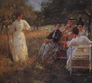 Edmund Charles Tarbell In the Orchard oil painting
