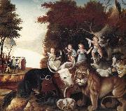 Edward Hicks Peaceable Kingdom oil painting