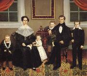 Erastus Salisbury Field Joseph Moore and His Family oil painting artist