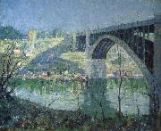 Ernest Lawson Spring Night,Harlem River oil painting