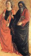 St.Catherine of Alexandria and an Evangelist