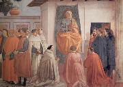 Fra Filippo Lippi Masaccio,St Peter Enthroned with Kneeling Carmelites and Others oil painting reproduction