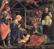 The Adoration of the Infant Jesus with St George and St Vincent Ferrer