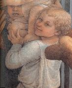Fra Filippo Lippi Details of  Madonna and Child with Two Angels oil painting on canvas