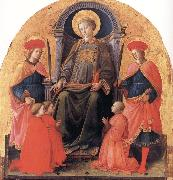 St Lawrence Enthroned with Sts Cosmas and Damian,Other Saints and Donors