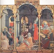 The Osservanza Master The Birth of the Virgin,with other Scenes of her Life