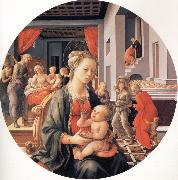The Madonna and Child with the Birth of the Virgin and the Meeting of Joachim and Anna